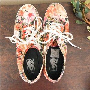 {Vans} Floral Sneakers
